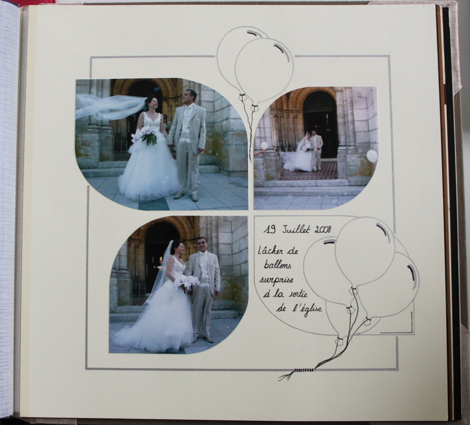D co d elise album mariage scrapbooking for Photo de decoration